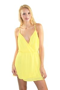 Crazy For You Dress in Yellow #neon #yellow #laurennicole #dress #fashion
