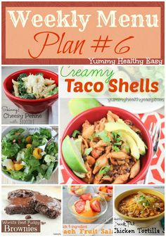 Weekly Menu Plan #6 - some delicious family-friendly meals to try this week via YummyHealthyEasy.com