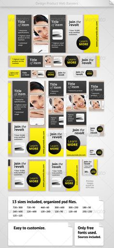 Design Product Web Banners Template PSD | Buy and Download: http://graphicriver.net/item/design-product-web-banners/3102252?WT.ac=category_thumb&WT.z_author=Emil_J&ref=ksioks