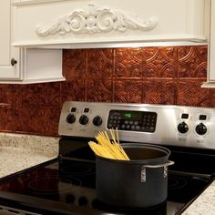 How to Install a Copper Backsplash | Copper backsplash, Kitchens ...