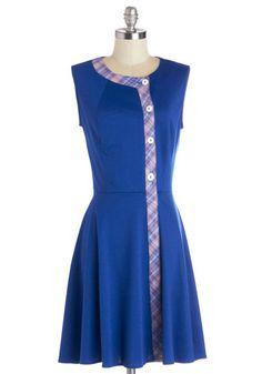 60's Inspired Cobalt Blue Frock