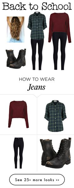 """""""Back to School- one pair of jeans"""" by cara-walker on Polyvore"""
