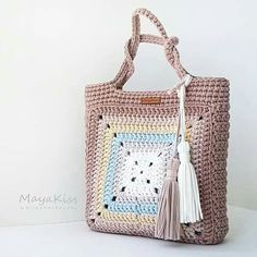 Crochet Patterns Bag Image interface for crochet bag mother heat Crotchet Bags, Bag Crochet, Crochet Shell Stitch, Crochet Handbags, Crochet Purses, Knitted Bags, Filet Crochet, Crochet Crafts, Crochet Clothes