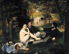 Édouard Manet - The Luncheon on the Grass/ Almoço na Relva/ Le déjeuner sur l'herbe, 1863.