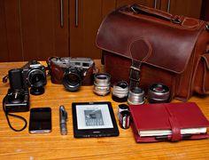 Camera bag and equipment by Grafea