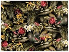 Jungle print for AMI S/S 2014. Art by Violaine