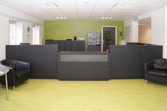 Odense Kommune - Ergo-design - 4155 pewter, 4023 nero  #overflade #forbo #interiordesign #linoleum #skrank #arkiv.