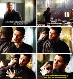 The originals - Klaus is slowly starting to win me over.  It was great to see a different side of him.