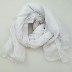White Sheer Springtime Scarf White, lightweight voile scarf, perfect for spring and warmer weather. NWOT. Accessories Scarves & Wraps