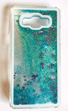 Funda Galaxy J7 J 7 Brillo Estrellas Movil Cascada Case