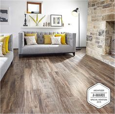 Home Renovation Flooring The beautiful vinyl plank from Karndean, the Looselay Hartford, was honourd with a special mention in the Architizer 2015 awards. Luxury Vinyl Flooring, Vinyl Plank Flooring, Luxury Vinyl Plank, Basement Flooring, Flooring Tiles, Plank Walls, Kitchen Flooring, Floors, Karndean Flooring