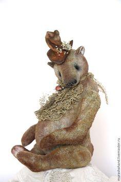 Купить Бернард (23) см (мишки тедди) - антикварный плюш, любимый, интерьерная игрушка
