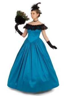 Imperial blue and gold ball gown by http://frocksofages.com ...