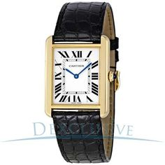 Cartier Tank Solo Quartz 18K Yellow Gold Watch.  An investment to last your lifetime.