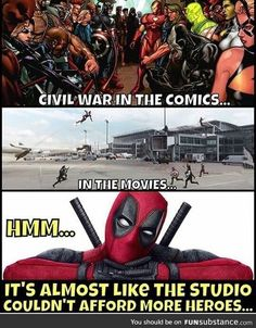 Deadpool is a 2016 American superhero film based on the Marvel Comics character. The people who know that Deadpool's strongest feature is the ability to break the fourth wall. Deadpool Funny, Funny Marvel Memes, Dc Memes, Avengers Memes, Marvel Jokes, Funny Memes, Deadpool Images, Deadpool Quotes, Deadpool Costume