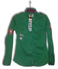 Vintage Retro Superdry shirt Jacket