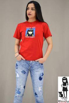Γυναικείο t-shirt Emily Strange Lost Emily Strange, Lost, Metal, T Shirt, Women, Fashion, Supreme T Shirt, Moda, Tee Shirt