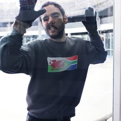 Welsh & South Africa Mixed Heritage Flag Sweatshirt - XS