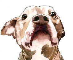 Custom Pet Portrait, Watercolor and Ink Portrait Of Your Pet, Custom Pet Art Based on Photo, Custom pet Wall Art, Memorial Pet Portrait by MariaOglesbyArt on Etsy