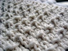 Pebbled dishcloth pattern (made lots -- one of my favs!)
