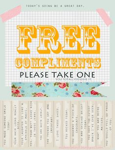Free Compliments - Spread the LOVE