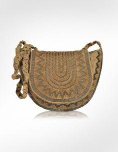 Antik Batik Douma Beaded Leather Shoulder Bag