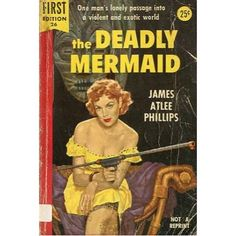 The Deadly Mermaid, 1954, vintage paperback #BOOK