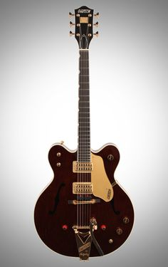 Gretsch G6122-1962 Chet Atkins Country Gentleman Electric Guitar (with Case), Walnut Stain