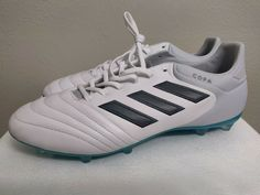 abf1d2f4697f eBay #Sponsored [S77135] Mens Adidas Copa 17.2 FG Firm Ground Soccer Cleats  White Grey Blue 10.5