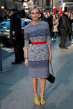 tendencias moda verano 2013 rayas estilo marinero - Diane Kruger