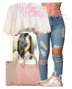 A fashion look from February 2018 featuring Puma sneakers, Michael Kors shoulder bags and Tory Burch tech accessories. Browse and shop related looks. Dressy Outfits, Dope Outfits, Outfits For Teens, Stylish Outfits, Fashion Outfits, Womens Fashion, Fall College Outfits, Everyday Outfits, Clothing Haul