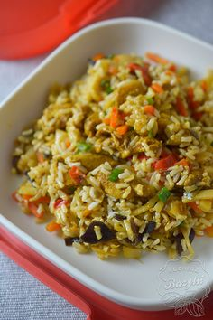 Fried Rice, Tofu, Pasta Salad, Lunch Box, Food And Drink, Yummy Food, Dinner, Ethnic Recipes, Parenting