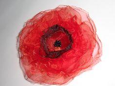 Rote Mohn Blume