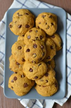 Soft-baked Pumpkin Chocolate Chip Cookies from Sourdough Sunday.