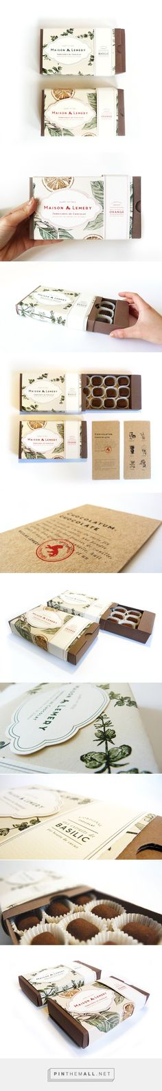 MAISON LEMERY - Chocolate Packaging on Packaging Design Served - Botanic concept