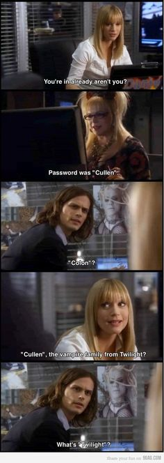 Criminal Minds. One of the reasons Dr. Reid is the best. If only he was real....