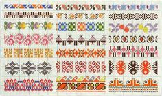 Border 79 | Free chart for cross-stitch, filet crochet | Chart for pattern - Gráfico