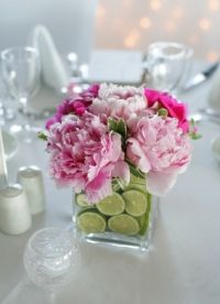 peony floral arrangement my favorite flower looks amazing with the lime lined vase.