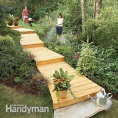 19 DIY Garden Path Ideas With Tutorials A password will be e-mailed to you. 19 DIY Garden Path Ideas With DIY Garden Path Ideas With TutorialsTake inspiration from t Diy Garden, Wooden Garden, Garden Paths, Wooden Path, Garden Pallet, Wooden Steps, Brick Garden, Concrete Garden, Wood Walkway