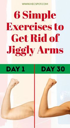 Jiggly arms can feel embarrassing and uncomfortable, especially in summer. Therefore, here are 6 simple exercises to get rid of jiggly arms. Fitness Workouts, Arm Workouts At Home, Fitness Motivation, Fitness Workout For Women, Toning Workouts, Easy Workouts, Easy Fitness, Fitness Style, Exercise Motivation