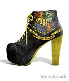 Harry Potter Hogwarts crest shoes