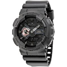 1cd89738e50 Casio G-Shock Analog-Digital Black Resin Mens Watch GA110MB-1A