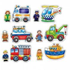 Rescue Squad - six, 2 & 3 piece jigsaws. Age 18 months plus.