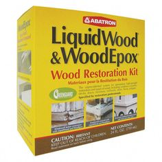 Shop for Abatron LiquidWood and WoodEpox Wood Restoration Kit 24 oz. Get free delivery On EVERYTHING* Overstock - Your Online Home Improvement Shop! Home Improvement Projects, Home Projects, Home Renovation, Home Remodeling, Kitchen Remodeling, Wood Repair, Drywall Repair, Wood Floor Repair, Siding Repair