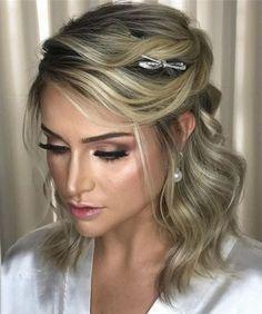 33 Melhores Imagens De Penteados Noiva Cabelo Curto