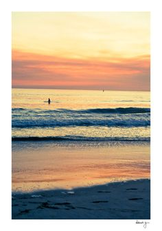 Santa Monica Sunset Photo // California by YoungSwanDesigns