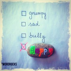 Monday morning back to school or work. What's your choice for today?! Make happiness a habit! Instagram: Word Rocks Project #wordrocks