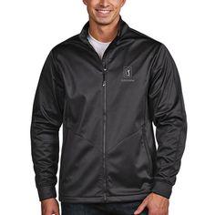 TPC Louisiana Antigua Golf Full Zip Jacket - Charcoal