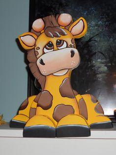 Adorable baby Giraffe woodcraft shelf sitter by WOODLANDCRITTERS, $32.50