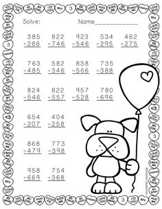 Need extra subtraction practice? These ten pages focus on three digit subtraction. Most problems require regrouping. No prep, just print and go. There is an answer key included. 3rd Grade Math Worksheets, Printable Math Worksheets, School Worksheets, Go Math, Math For Kids, Math Stations, Math Centers, Math Resources, Math Activities